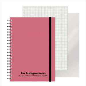 エムプラン M-PLAN [ノート]レフ板のついたリングノートカラード(5mmグリッド罫方眼・A5・50枚・レフ版2枚)ピンク 220417-06