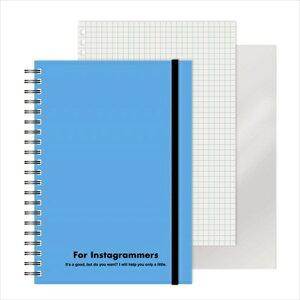 エムプラン M-PLAN [ノート]レフ板のついたリングノートカラード(5mmグリッド罫方眼・A5・50枚・レフ版2枚)スカイブルー 220417-36