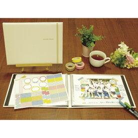 ナカバヤシ Nakabayashi おもいで写真アルバム ホワイト柄