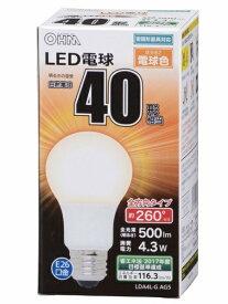オーム電機 OHM ELECTRIC LDA4L-G AG5 LED電球 ホワイト [E26 /電球色 /1個 /40W相当 /一般電球形 /全方向タイプ][LDA4LGAG5]