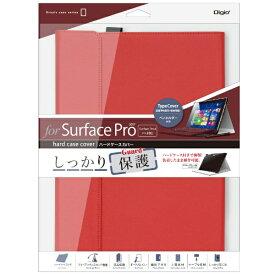 ナカバヤシ Nakabayashi Surface Pro 2017 / Surface Pro 4用 ハードケースカバー TBC-SFP1707R レッド[サーフェス カバー ケース]