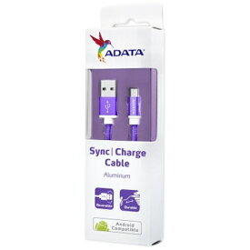ADATA エイデータ [micro USB] 高耐久ケーブル 1m パープル [1.0m]