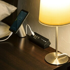 サンワサプライ SANWA SUPPLY クランプ式USB充電器 ブラック ACA-IP51BK [2.0m /4ポート /スイッチ無][ACAIP51BK]
