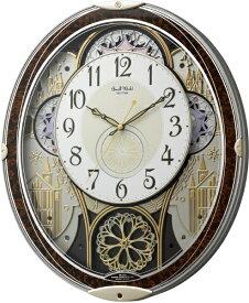 リズム時計 RHYTHM からくり時計 【スモールワールドノエルN】 4MN539RH23 [電波自動受信機能有]
