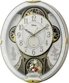 リズム時計 RHYTHM からくり時計 【ミッキー&フレンズ M509】 白 4MN509MC03 [電波自動受信機能有][4MN509MC03]