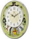 【送料無料】 リズム時計 電波からくり時計 「くまのプーさんM523」 4MN523MC03