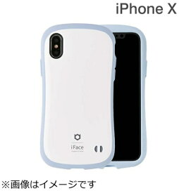HAMEE ハミィ iPhone X用 iFace First Class Pastelケース ホワイト/ブルー IP8IFACEPASTELWHBL