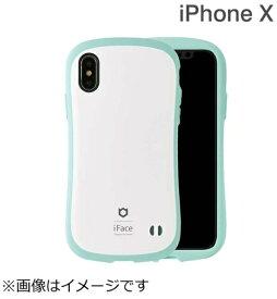HAMEE ハミィ iPhone X用 iFace First Class Pastelケース ホワイト/ミント IP8IFACEPASTELWHMT
