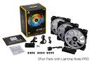CORSAIR コルセア ケースファン[120mm / 1500RPM] LL120 RGB 3Fan Pack with Lighting Node PRO CO-9050072-WW RGB…