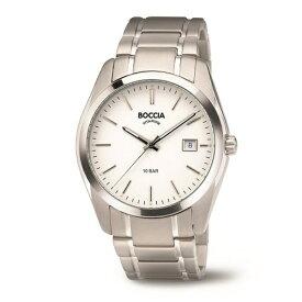 ボッチアチタニューム BOCCIA チタン製メンズメタルバンド腕時計 360803 3608-03 [正規品]