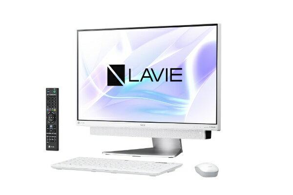 【送料無料】 NEC LAVIE Desk All-in-one DA770/KAシリーズ 23.8型デスクトップPC[TVチューナー搭載・Office付き・Win10 Home・Core i7・HDD 3TB・メモリ 8GB]2018年春モデル PC-DA770KAW ホワイトシルバー [HDD 3TB]