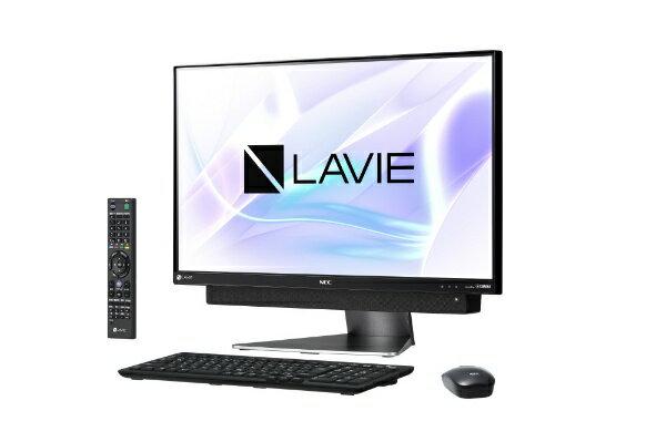【送料無料】 NEC LAVIE Desk All-in-one DA770/KAシリーズ 23.8型デスクトップPC[TVチューナー搭載・Office付き・Win10 Home・Core i7・HDD 3TB・メモリ 8GB]2018年春モデル PC-DA770KAB ダークシルバー [HDD 3TB]
