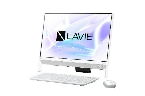 【送料無料】 NEC LAVIE Desk All-in-one DA350/KAW 23.8型デスクトップPC[Office付き・Win10 Home・Celeron・HDD 1TB・メモリ 4GB]2018年春モデル PC-DA350KAW ファインホワイト [HDD 1TB]
