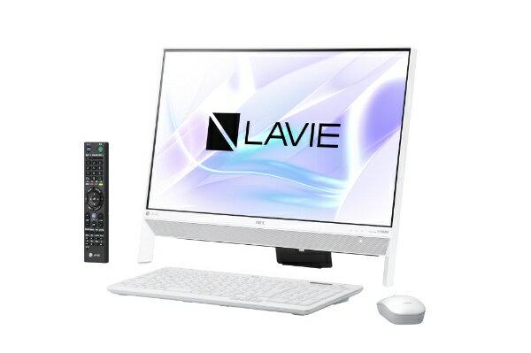 【送料無料】 NEC LAVIE Desk All-in-one DA700/KAW 23.8型デスクトップPC[TVチューナー搭載・Office付き・Win10 Home・Core i7・HDD 1TB・メモリ 4GB]2018年春モデル PC-DA700KAW ファインホワイト [HDD 1TB]