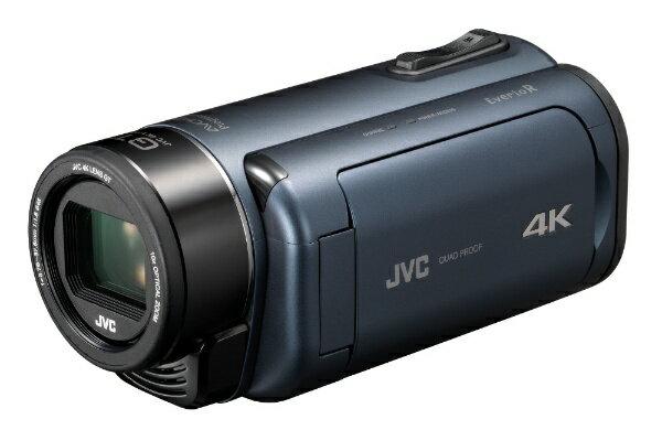 【送料無料】 JVC ダブルSDスロット搭載 防水・防塵・耐衝撃4Kビデオカメラ(ディープオーシャンブルー) GZ-RY980-A[GZRY980A]