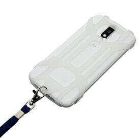 ミヨシ MIYOSHI フリーサイズ スマホホルダー+ストラップ 背面中央カメラ対応タイプ SAC-SB03/CL クリア[SACSB03CL]