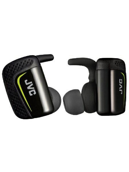 【送料無料】 JVC ジェイブイシー フルワイヤレスイヤホン HA-ET900BT-B ブラック [防滴&左右分離タイプ /Bluetooth]