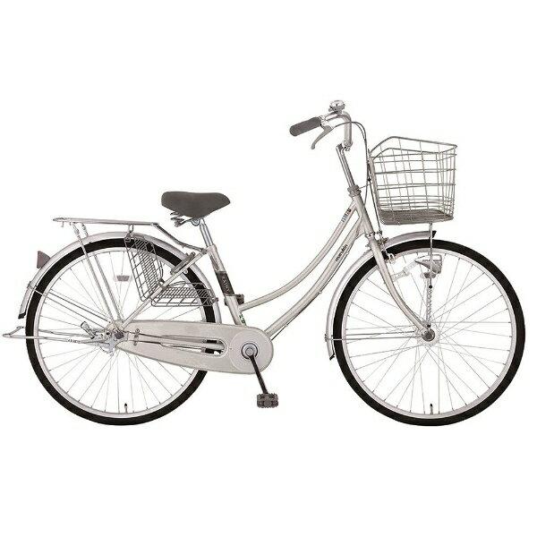 【送料無料】 MARUKIN 26型 自転車 レイニーホームHD 261-K(シルバー/シングルシフト) MK-18-010【2018年モデル】【組立商品につき返品不可】 【代金引換配送不可】【メーカー直送・代金引換不可・時間指定・返品不可】