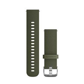 GARMIN ガーミン ウェアラブル端末用交換ベルト 20mm 010-12561-20 Moss Stainless silicon[0101256120]