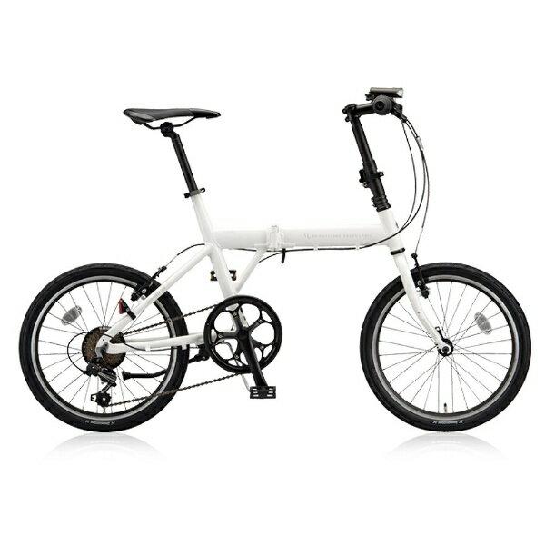 【送料無料】 ブリヂストン 20型 折りたたみ自転車 CYLVA F6F(マット&グロスホワイト/6段変速) VF6F20【2018年モデル】【組立商品につき返品不可】 【代金引換配送不可】
