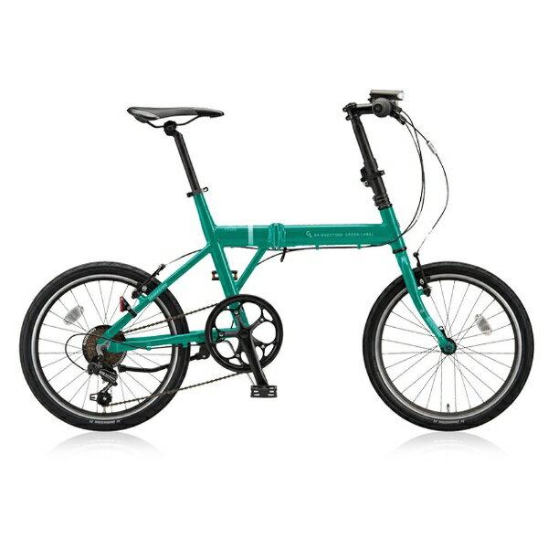【送料無料】 ブリヂストン 20型 折りたたみ自転車 CYLVA F6F(コバルトグリーン/6段変速) VF6F20【2018年モデル】【組立商品につき返品不可】 【代金引換配送不可】