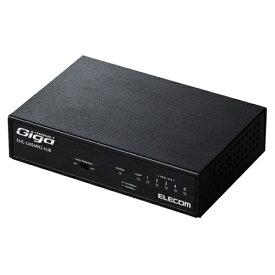 エレコム ELECOM Giga対応スイッチングHub/5ポート/金属筐体/磁石付き/電源内蔵モデル EHC-G05MN2-HJB[EHCG05MN2HJB]