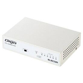 エレコム ELECOM Giga対応スイッチングHub/5ポート/金属筐体/磁石付き/電源内蔵モデル EHC-G05MN2-HJW[EHCG05MN2HJW]
