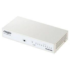 エレコム ELECOM Giga対応スイッチングHub/8ポート/金属筐体/磁石付き/電源内蔵モデル EHC-G08MN2-HJW[スイッチングハブ EHCG08MN2HJW]