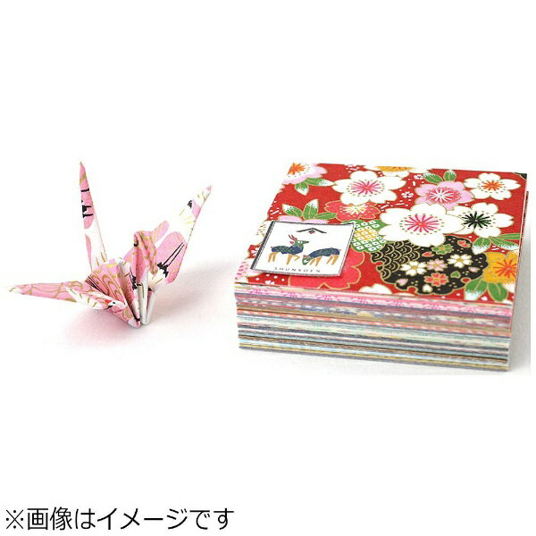 日本製墨書遊 友禅手染め和紙 千代紙(6cm×6cm 100枚入り)SKW0400