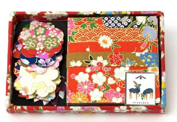 日本製墨書遊 千代紙折紙/シールセット SKW0401