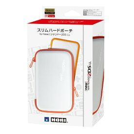 HORI ホリ スリムハードポーチ for Newニンテンドー2DS LL ホワイト×オレンジ 2DS-110[New2DS LL]