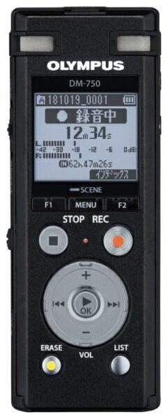 【送料無料】 オリンパス ICレコーダー DM-750BLK ブラック [4GB]