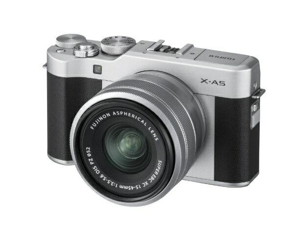 富士フイルム FUJIFILM FUJIFILM X-A5【レンズキット】(シルバー/ミラーレス一眼カメラ)[FXA5LKS]