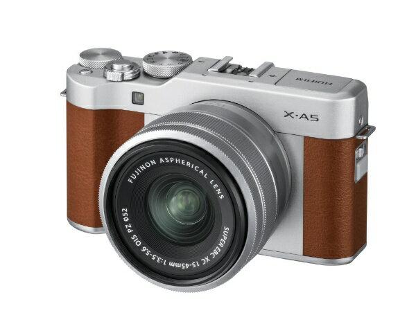 富士フイルム FUJIFILM FUJIFILM X-A5【レンズキット】(ブラウン/ミラーレス一眼カメラ)[FXA5LKBW]