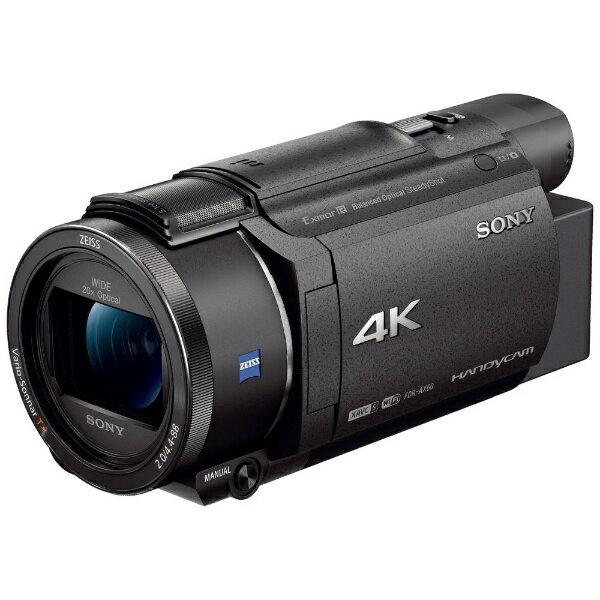 【送料無料】 ソニー SONY メモリースティック/SD対応 64GBメモリー内蔵 4Kビデオカメラ(ブラック) FDR-AX60[FDRAX60]