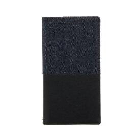 MSソリューションズ Xperia XZs/XZ用 手帳型ケース デニムフラップケース「WINDE」 ブラック/ブラック