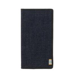 MSソリューションズ Xperia XZs/XZ用 手帳型ケース デニムフラップケース「WINDE」 ブラック