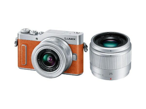 【送料無料】 パナソニック Panasonic LUMIX GF10【ダブルレンズキット】DC-GF10W-D(オレンジ/ミラーレス一眼カメラ)[DCGF10W]