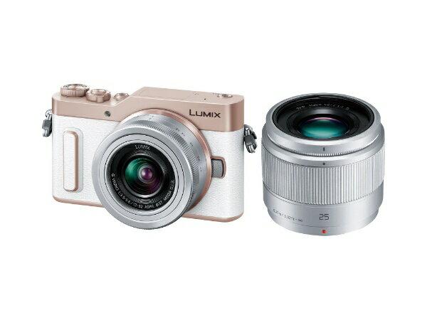 【送料無料】 パナソニック Panasonic LUMIX GF10【ダブルレンズキット】DC-GF10W-W(ホワイト/ミラーレス一眼カメラ)[DCGF10W]