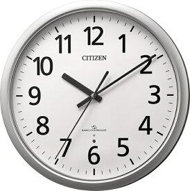 リズム時計 RHYTHM 掛け時計 シルバー 4MY853-019 [電波自動受信機能有]