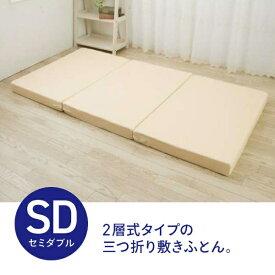 生毛工房 リバーシブル敷ふとん セミダブルサイズ(120×200cm)【日本製】【point_rb】