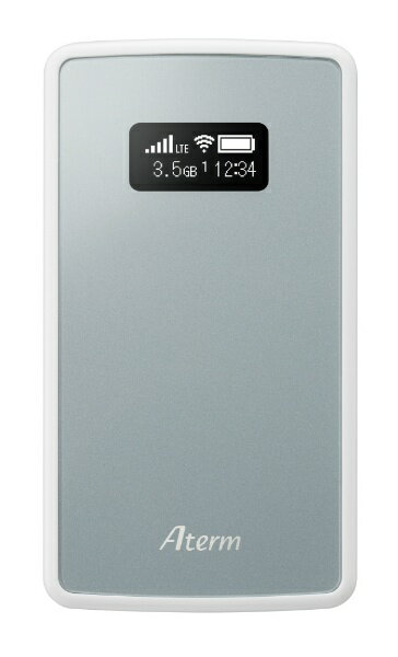 【送料無料】 NEC 【SIMフリー nanoSIMx1】モバイルルータ LTE/Wi-Fi [無線ac/n/a(5GHz) n/g/b(2.4GHz)]Aterm MP01LN SW シルバー PAMP01LNSW