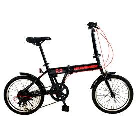 ハマー HUMMER 18型 折りたたみ自転車 HUMMER FDB186 IW-III(ブラック/6段変速) FDB186IW3【組立商品につき返品不可】 【代金引換配送不可】