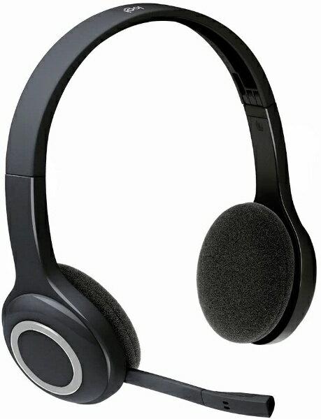 ロジクール H600R ヘッドセット ブラック [ワイヤレス(USB) /両耳 /ヘッドバンドタイプ][H600R]