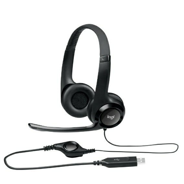 ロジクール 有線ヘッドセット H390R ブラック [USB]