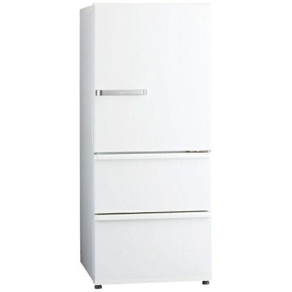 【標準設置費込み】 AQUA アクア 《基本設置料金セット》3ドア冷蔵庫 (272L) AQR-27G-W ナチュラルホワイト