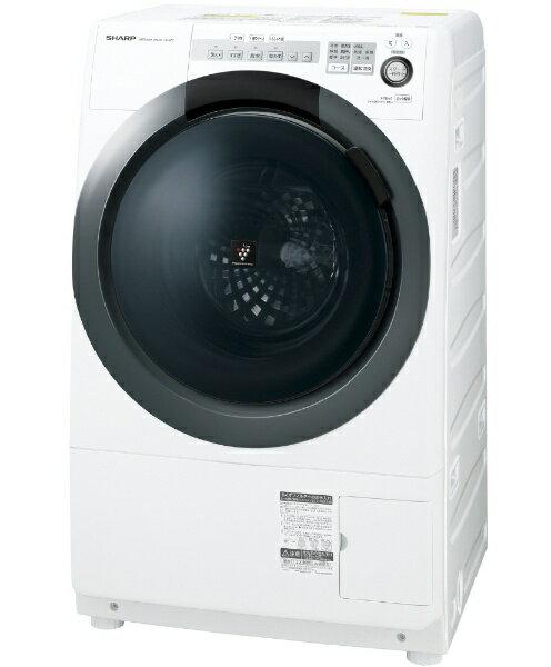 【標準設置費込み】 シャープ [左開き] ドラム式洗濯乾燥機 (洗濯7.0kg/乾燥3.5kg) ES-S7C-WL ホワイト系 【洗濯槽自動お掃除・ヒーター乾燥機能付】