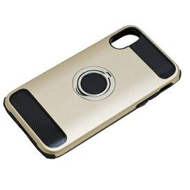 バウト BAUT iPhoneX用 ジャケットリング付き 耐衝撃 BCJI1703GD ゴールド