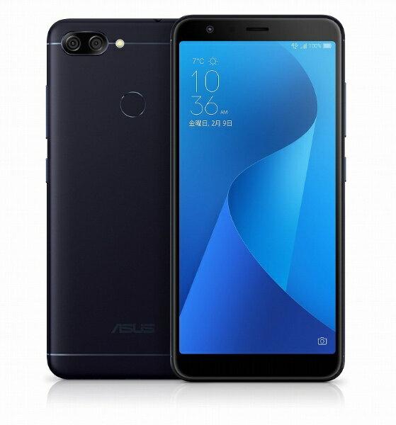 【送料無料】 ASUS Zenfone Max Plus M1 ディープシーブラック 「ZB570TL-BK32S4」 5.7型・メモリ/ストレージ:4GB/32GB nanoSIMx2 SIMフリースマートフォン[ZB570TLBK32S4]