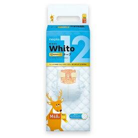 王子ネピア nepia nepia(ネピア)Whito ホワイト テープ Mサイズ(6kg-11kg) 12時間タイプ (48枚入) 〔おむつ〕